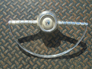 1955 Ford Power Steering OEM Chrome Horn Trim Ring 55 Sunliner Crown Victoria PS