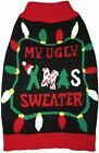 Fashion Pet Black Ugly XMAS Dog Sweater - X-Large