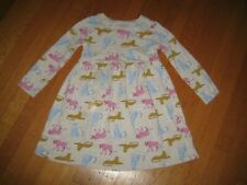 Old Navy girl's 5T l/s dress cheetah print BTS