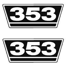 IHC Traktor Aufkleber 2xTypenaufkleber 353 Logo Emblem Sticker Label ca.21x9,5cm