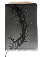 Holman Christian Standard Large Print Bible Crown of Thorns Embossed Tabs