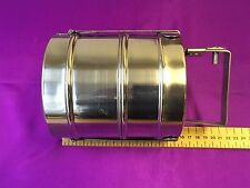 STEEL 2 TIER APPROX 13 CM DIA TIFFIN  BOX  CARRIER  LUNCH BOX SIZE 10 X 2