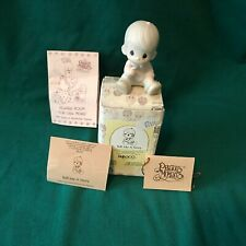 """Precious Moments 1985 """"15792"""" """"Tell Me A Story"""" New In Box With Tags-Mint"""