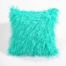 "18"" Soft Fur Plush Square Throw Pillow Cases Home Decor Sofa Waist Cushion Cover"