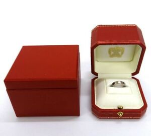 Authentic Cartier Mini Love Ring 18k White Gold 48mm with Box And Case
