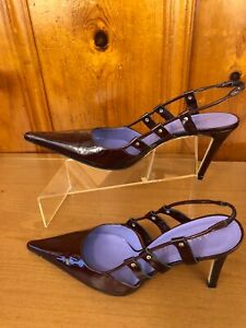 Anne Klein NY Women's High Heel Sandals Size 10 M Made In Italy New Sling Back