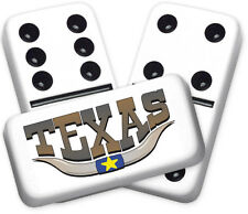 Texana Series Texas Horns Design Double six Professional size Dominoes