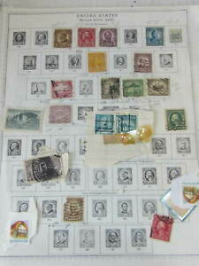 Lot of  10 Pages of United States Stamps. Some Uncirculated