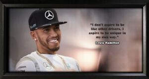 Lewis Hamilton Framed Photo Motivational Poster