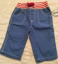 NWT MINI BODEN BABY BODEN INFANT BOY TROUSERS ROLL-UP SHORTS - SIZE 0-3 MONTHS