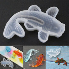 Koi Fish Epoxy Mold Silicone Mould Pendant DIY Jewelry Making Resin Casting Tool