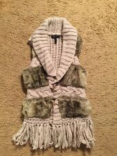 JESSICA SIMPSON FAUX FUR SWEATER VEST...SIZE SMALL