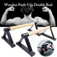 Wooden Parallettes For Push-Up, Gymnastics, Yoga, Calisthenics Workout Equipment