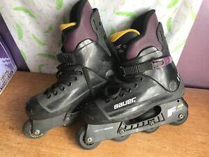 Bauer Roller Blades Inline Skates F3 Fitness Super Light Chassis Size 9