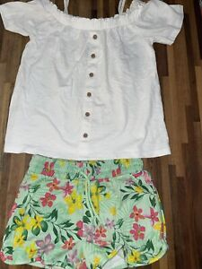 Next Girls Summer set Outfit Shorts Top Age 10 Immaculate