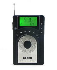 New DEGEN DE15 FM Radio MW SW FML World Band Receiver Alarm Quarz LED Backlight