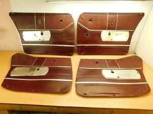 INTERIOR DOOR PANELS - SET FROM A 1968 OLDSMOBILE 88 4 DOOR SEDAN 68OD2-1J1