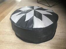 Stunning Turkish Leather Ottoman Pouffe Pouf Footstool