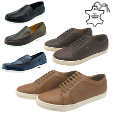 Men's Casual Leather Shoes Suit Dress Loafers Trainers Driving Smart Office Size