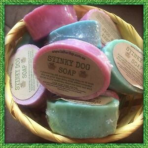 2 X Stinky Dog Handmade Soap. NOW IN A Male Scent And A Female Scent.