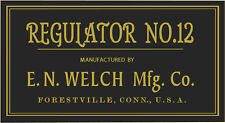 ANTIQUE CLOCK  E.N. WELCH LABEL parts
