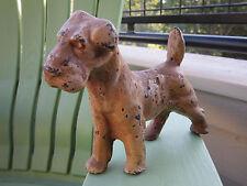 Antique Original Littco Cast Iron Fox Terrier Home Art Statue Doorstop