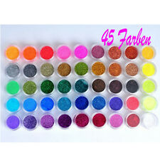 45 Dosen Glitzer Set Nagel Design Puder Glitter Pulver Profi Studio Nailart
