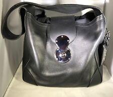 RALPH LAUREN BLACKLEATHER RICKY SHOULDER BAG HOBO PURSE w/LOCK - RETAIL $2495