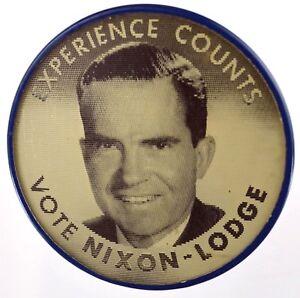 1960 RICHARD NIXON FLASHER BUTTON campaign pin pinback political badge VARIVUE