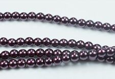 Olive CZECH Glass Pearl Coated Round Glass Beads 4mm 110 Dk
