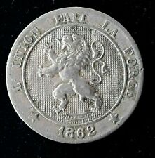 BELGIQUE 5 Centimes lion 1862