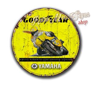 """Good Year Yamaha   12"""" metal tin sign vintage retro motorcycle garage man cave"""