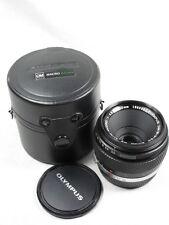 OLYMPUS OM-SYSTEM ZUIKO MC AUTO-MACRO 50mm f3.5 LENS W/CAPS/CASE EXCELLENT+++