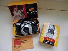 KODAK Pony IV Camera - 775 B-1 Pocket Flasholder - Lens Paper - Original Boxes