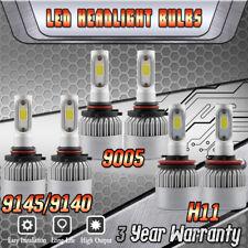 9005 H11 LED Headlight Kit Hi/Lo + 9145/9140 Fog Lights for Ford F-150 2015-2019