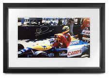 Nigel Mansell SIGNED Taxi for Ayrton Senna (pits), 1991 Formula 1, 50x25cm photo