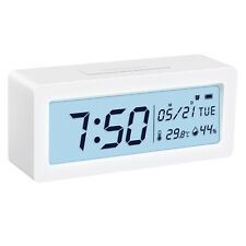 Alarm Snooze Clock Night Light Thermometer Digital LED Display Battery Operated