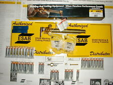 ESAB OXWELD C-58 MACHINE CUTTING TORCH AND SPARE PARTS LOT