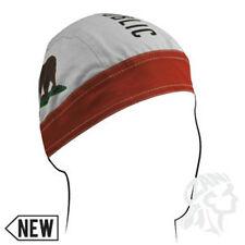 California Republic Red White Green Brown Bear Flag Doo Rag Headwrap Skull Cap