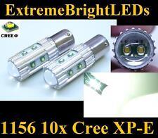 TWO Xenon HID WHITE 50W High Power 10x Cree XP-E 1156 7506 LED Backup Lights