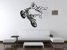 Bike Motocross Motor Bike Wall Art Sticker Free Postage