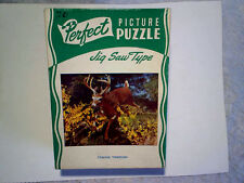 VINTAGE BUCK DEER PUZZLE-COMING THROUGH,Old,19 cent cover,perfect,hunting,rack