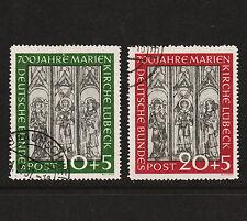 1951 Germany Charity Frescoes Set Sc#B316-7 Mi#139-40 Used Clean Sound VF