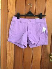 gap khakis shorts lilac mauve 4 inch inseam uk 6 bnwt stretch cotton