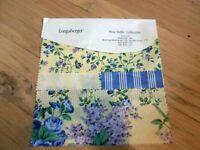 Longaberger Fabric Samples Rose Trellis Collection New