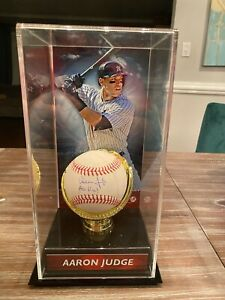 AARON JUDGE ALL RISE SIGNED AUTOGRAPHED BASEBALL IN CASE CERTIFIED YANKEES