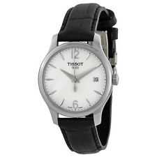 Tissot T-Trend Tradition Silver Dial Black Leather Mens Watch T0632101603700-AU