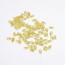 50 Chain Tabs Gold Necklace Ends Bracelet Ends Connectors Hook