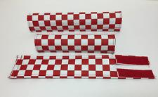 FLITE old school BMX foam padset pads - USA MADE!! - CHECKER BOARD RED
