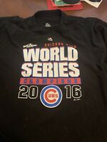 2016 World Series Champs Chicago Cubs T-Shirt (6XL) Majestic  (Rizzo/ Bryant)